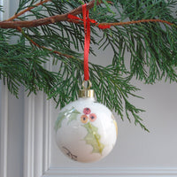 Bone China Robin Christmas Bauble