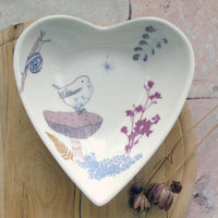 Heart Shaped Trinket Dish - Wren Design