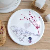 Round Coaster - chaffinch design 2
