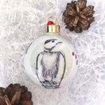 Bone China Christmas Bauble - woodpecker design