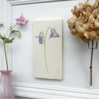 Aquilegia Ceramic Tile Wall Art