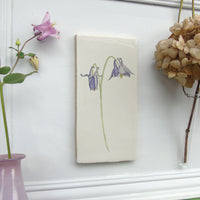 Aquilegia Decorative Ceramic Tile Wall Art