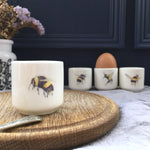 Bone china bee eggcup