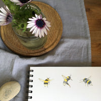 Bluebell and bee Wall Art
