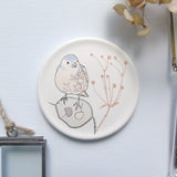 Round Coaster - chaffinch design 1
