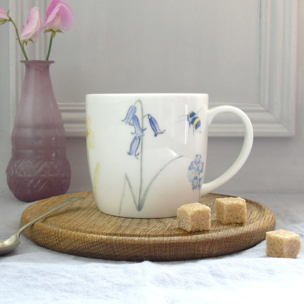 Bee and Bluebell Mug