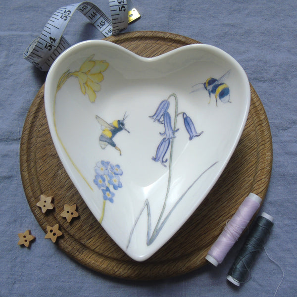 bluebell heart shaped trinket dish