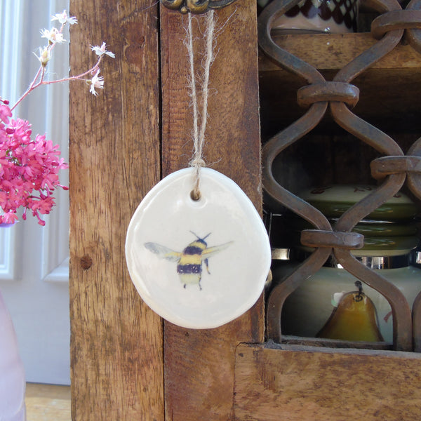 Handmade Ceramic Bee Decoration