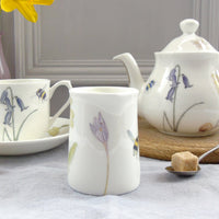 Bee and spring flower mini cream jug