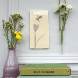 Handmade Crocus and Bee Wall art tile