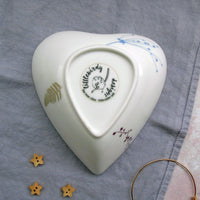 Heart trinket dish - wren design