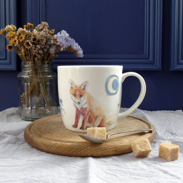 Winter Fox Bone China Mug