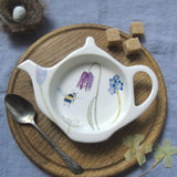 Bee Teabag Tidy, spring flowers design
