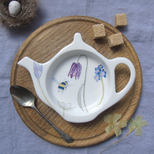 Spring flower and bees Teabag Tidy