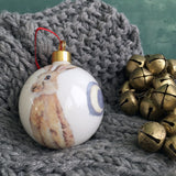 Hare Bone china Christmas bauble
