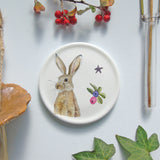 Winter Hare mini wall plate
