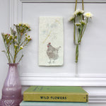 Handmade Hen and Blossom Wall art tile