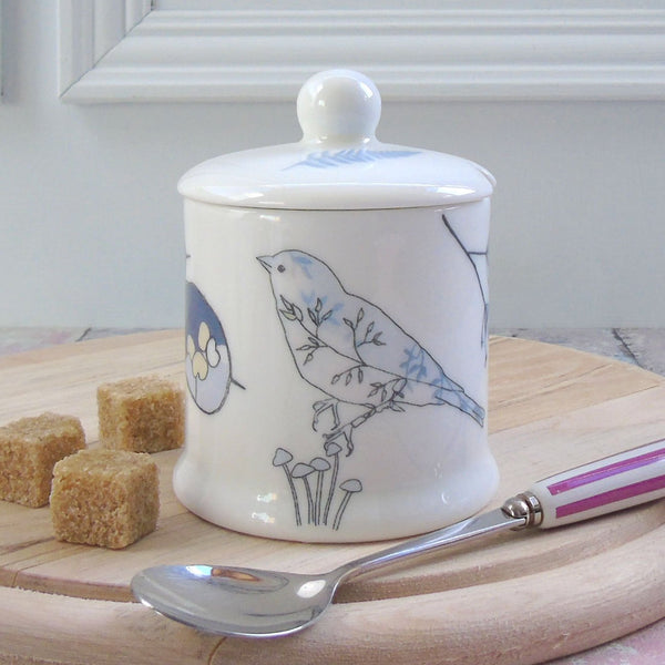 bone china jam/suagr canister