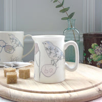 mini cream jug - chaffinch design