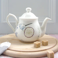 one person bone china teapot