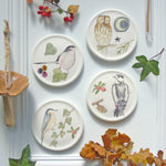 Winter bird mini wall plates