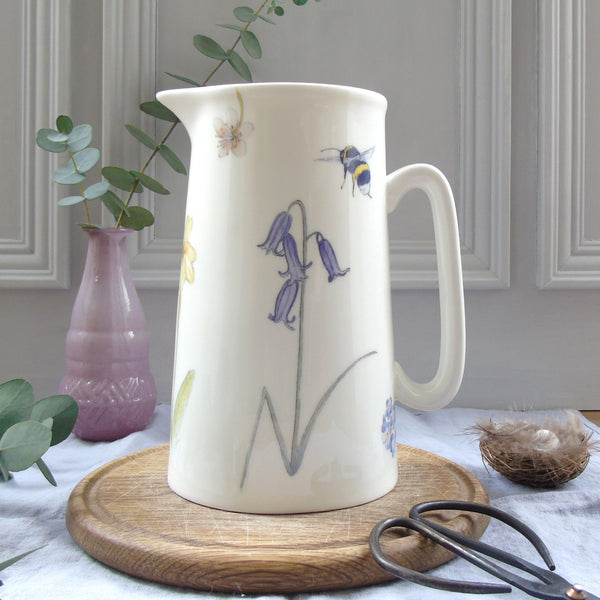 Spring Flower bone china Jug