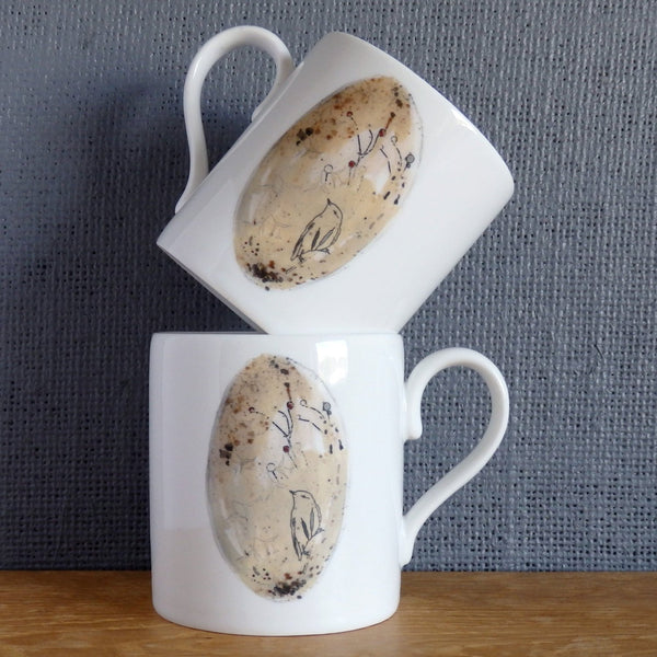 Easter bone china egg Mug