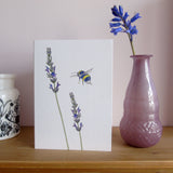 A6 Lavender and Bee card