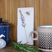 Lavender and bee Wall Art
