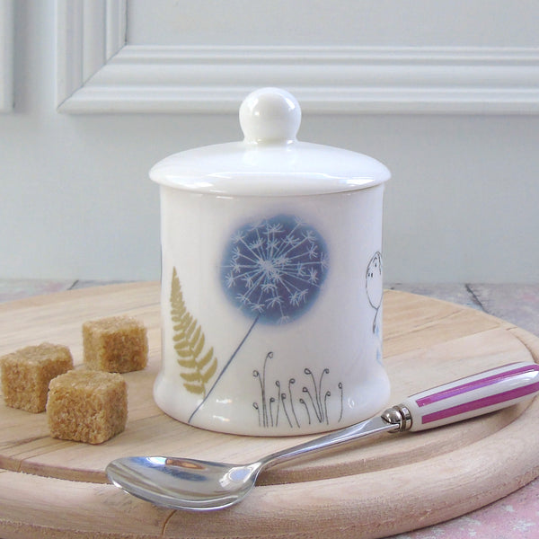 bone china jam/sugar pot