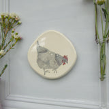 Chicken handmade ceramic plaque