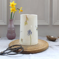 Spring Flower and bees, bone china, one pint jug