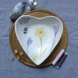 primrose heart shaped trinket dish