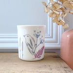 bone china tealight holder - water reeds design
