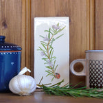 Rosemary and Ladybird Ceramic Tile Wall Art