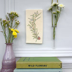 Handmade Rosemary and Ladybird Wall art tile