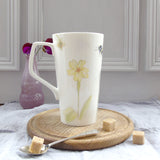 Bee and spring flower tall Mug