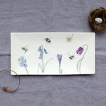 bone china bee trinket tray