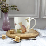 Red Squirrel bone china mug