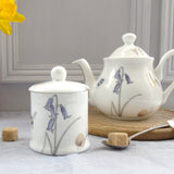 Bee and Spring Flower china Sugar Pot