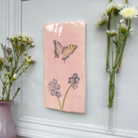 Handmade Swallowtail Butterfly Wall art tile
