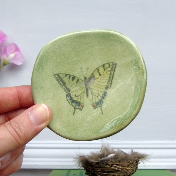 handmade ceramic swallowtail butterfly plaque