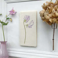 Sweet Pea ceramic tile Wall Art