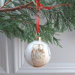 Tawny owl Bone china Christmas bauble