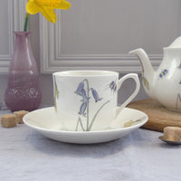 Bee and spring flower afternoon tea set