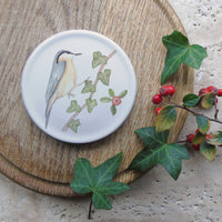 Winter coaster - nuthatch and ivy