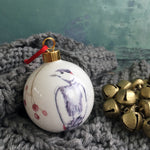 Woodpecker Bone china Christmas bauble