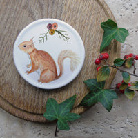 Red Squirrel Coaster