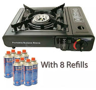 Camping Stove & 8 Gas Refills - [presents_for_him_and_her].