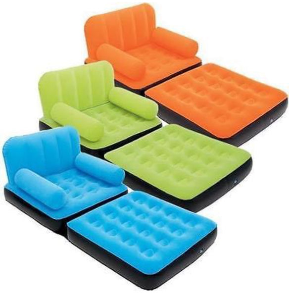 BLOW UP SOFA BED / CHAIR LOUNGER - [presents_for_him_and_her].